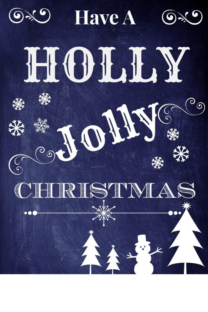 Christmas Quote Have a Holly Jolly Christmas