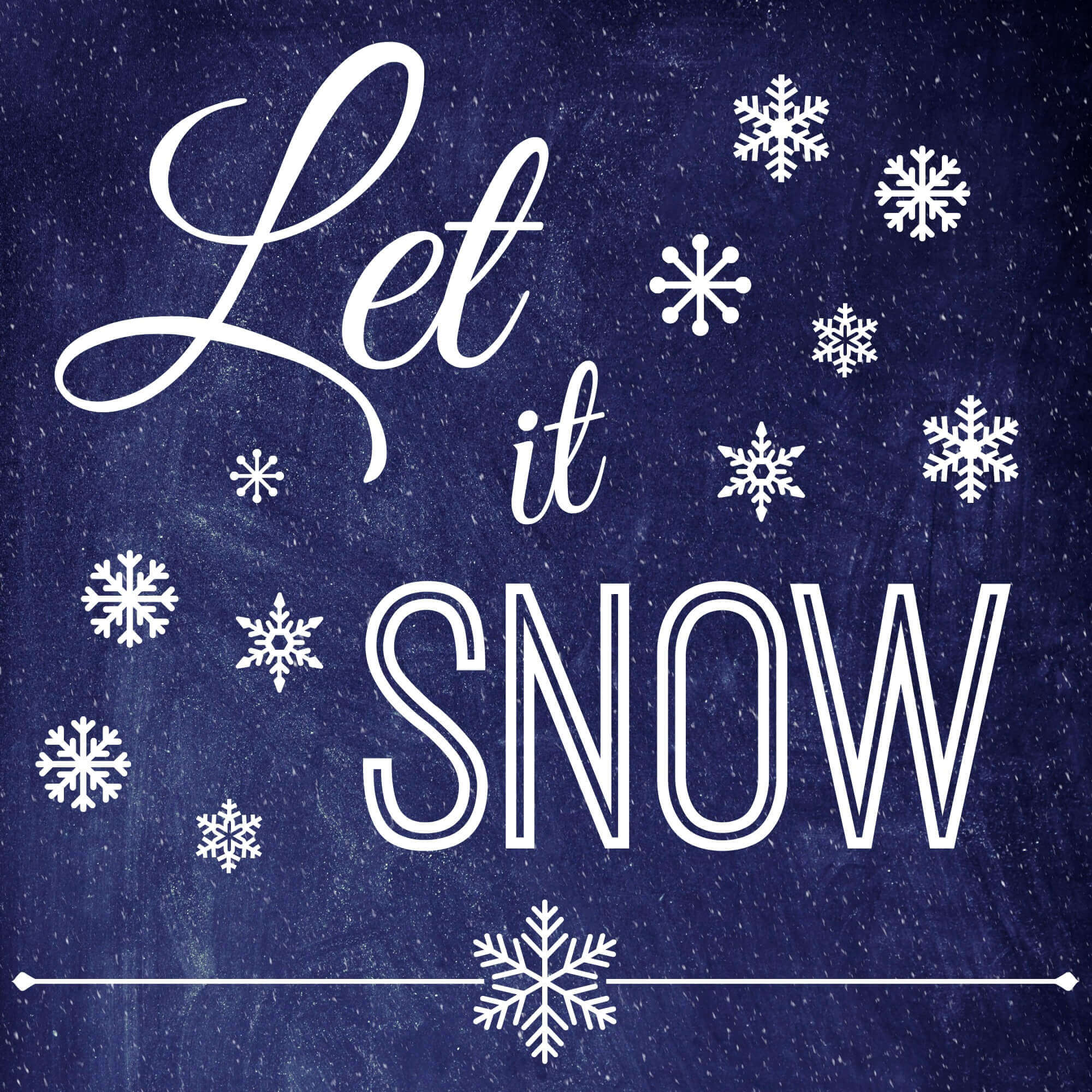 Christmas Quote Let It Snow