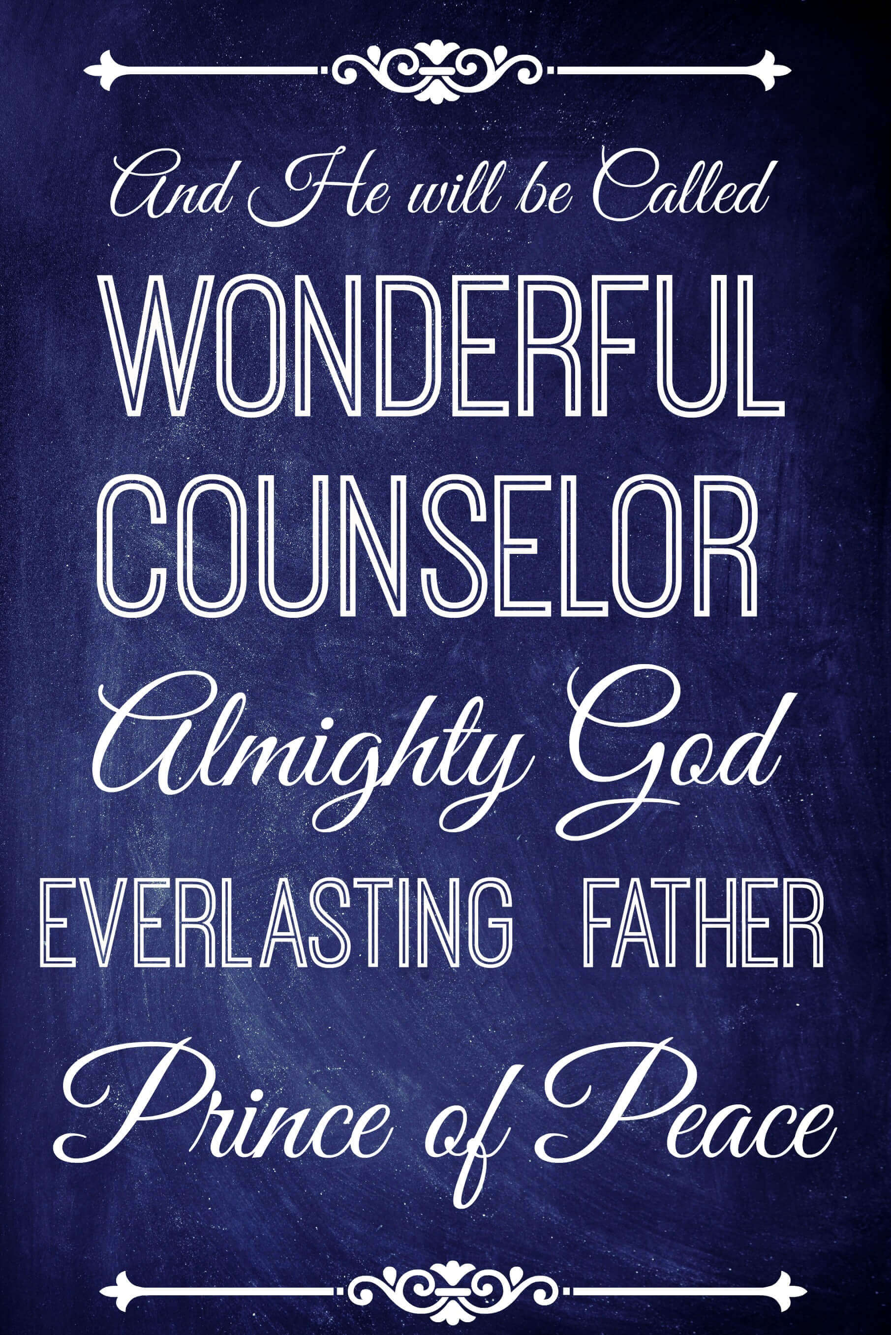Christmas Quote Wonderful Counselor