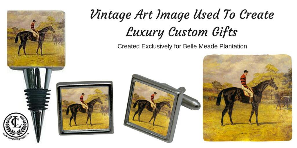Art Museum Gifts include the gifts created for Belle Meade Plantation featuring the vintage racehorse.