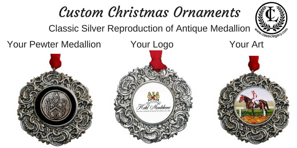 Classic Legacy Custom Christmas Ornaments Classic Silver Style