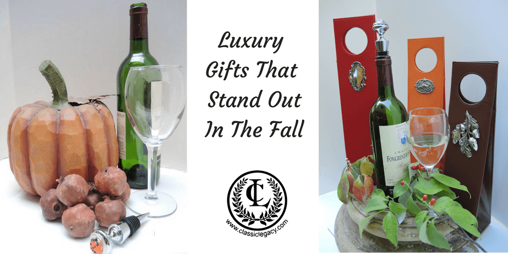 Classic Legacy Luxury Fall Wine and Desktop Gifts Stand Out
