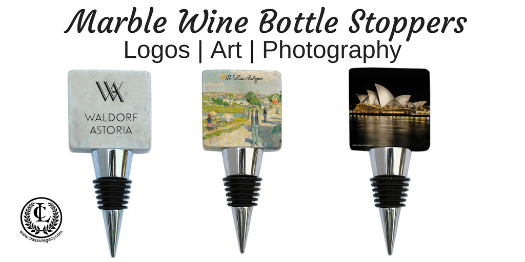 Marble Wine Bottle Stoppers Showcase Art | Photography | Logos