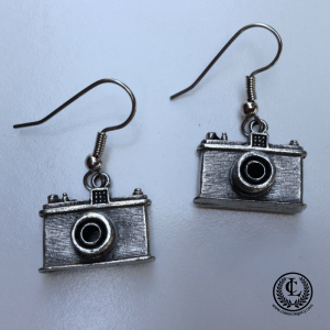 Swag Bag Ideas include Camera Theme earrings for Photographers