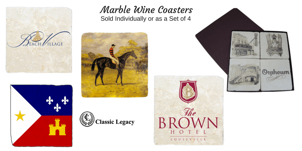 Marble Coasters For Personalized Wine Gifts