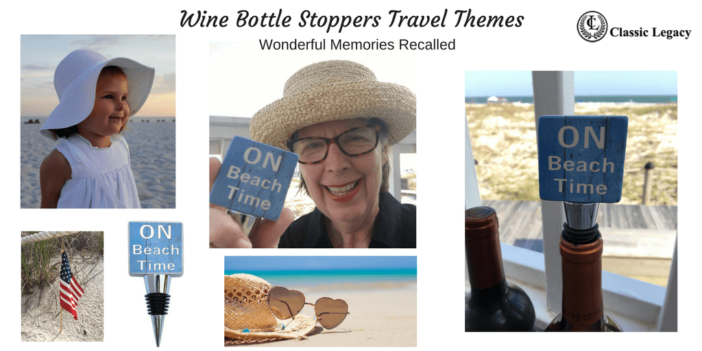 Personalized Wine Gifts and Wine Bottle stoppers for the Beach