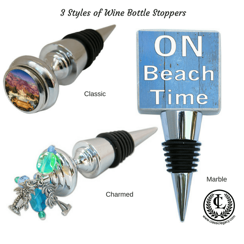 3 styles of wine stoppers in the Classic Legacy collection