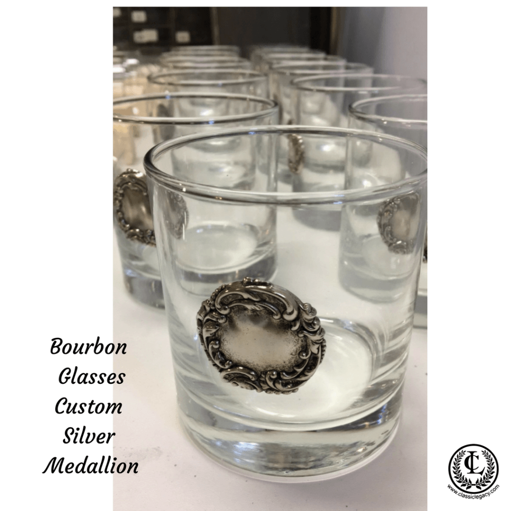 Bourbon Glass with Silver Medallion