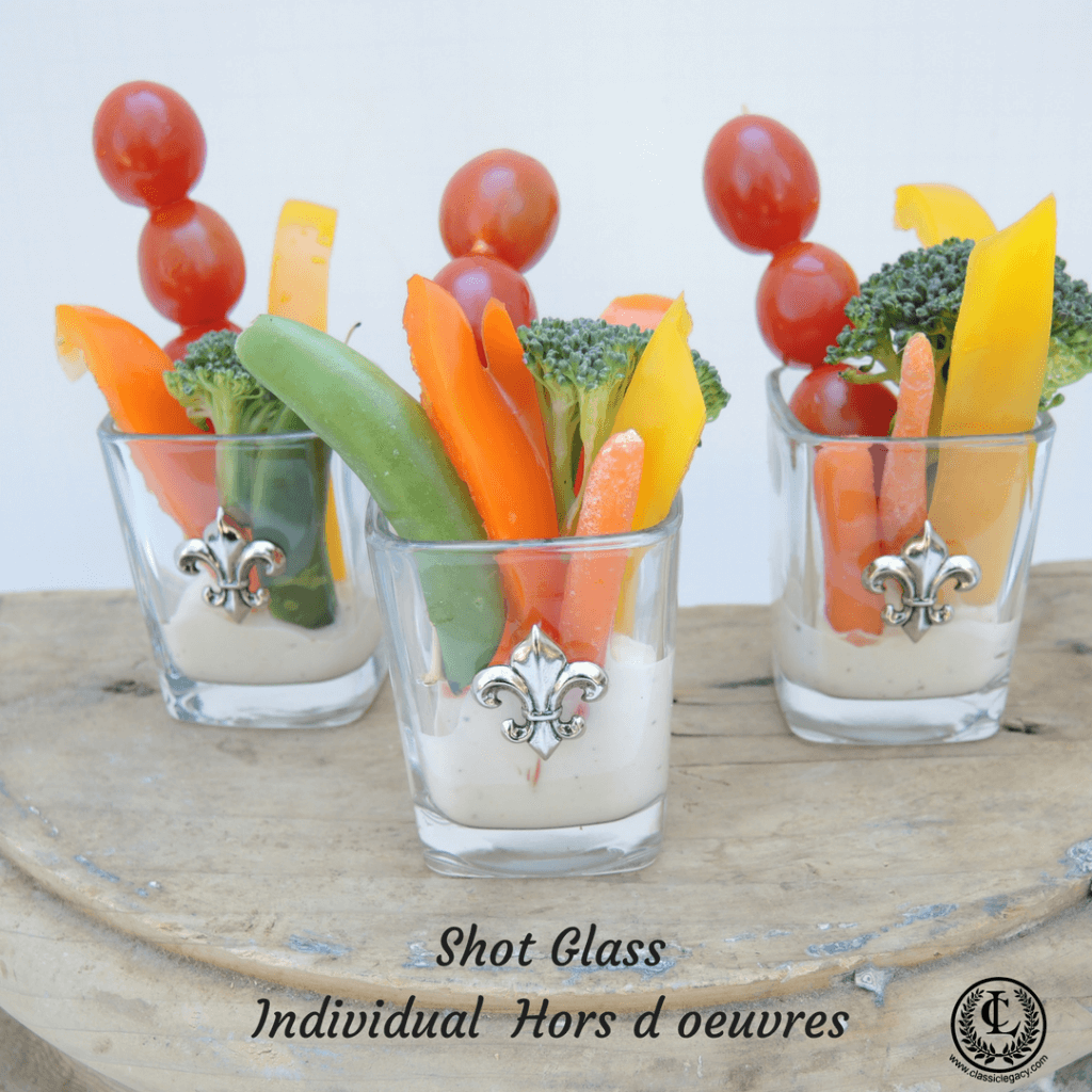 Shot Glasses Used for Individual Hors d oeuvres