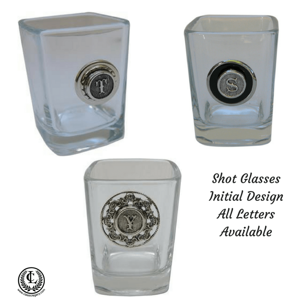 Shot Glasses with Initial designs