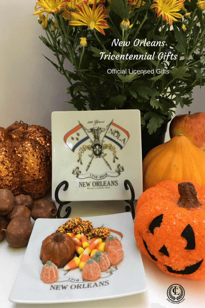 NOLA2018 Tricentennial gifts include this small plate which is perfect for Halloween treats