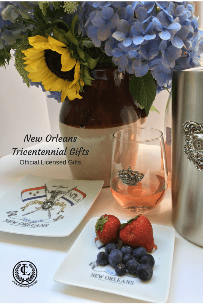 NOLA2018 Tricentennial gifts include the small plate perfect for summertime treats