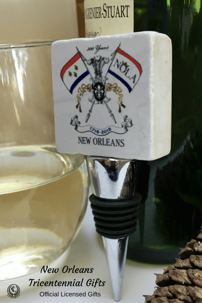 NOLA2018 Tricentennial Gifts feature the New Orleans Tricentennial Wine Bottle Stopper