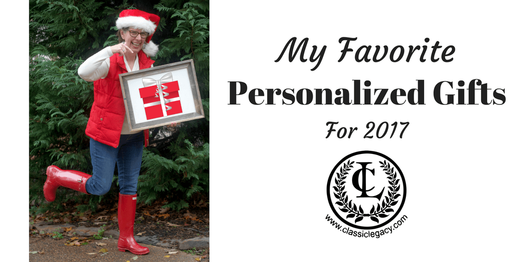 My Favorite Personalize Gifts for 2017