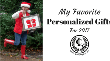 My Favorite Personalized Gifts for 2017