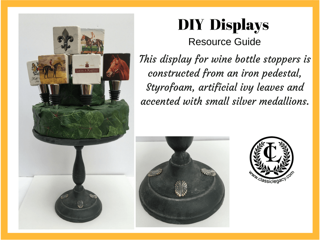 DIY Display for Wine Bottle Stoppers Iron Pedestal