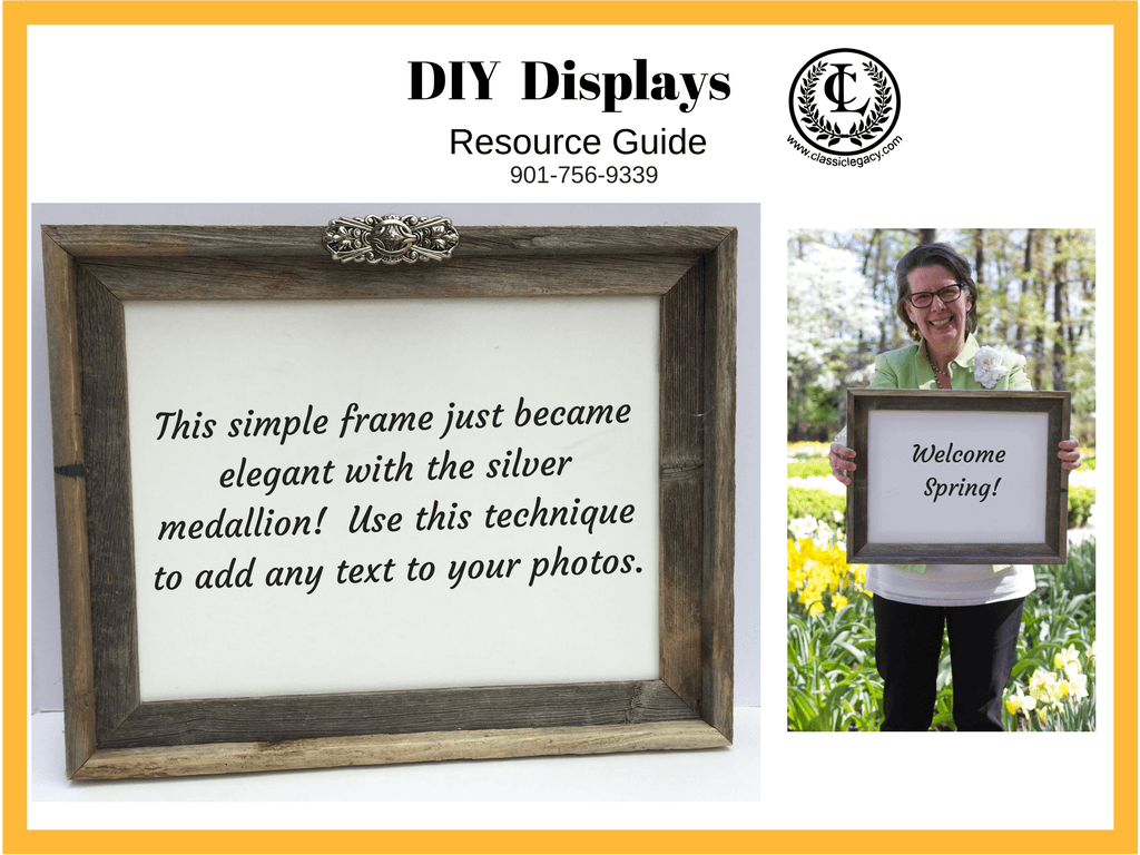 DIY Luxury Retail Display Wooden Frame with White Canvas