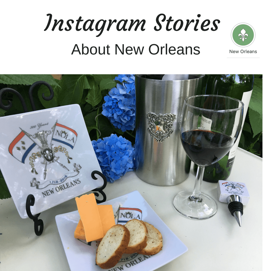 Instagram Story Icons highlight New Orleans Tricentennial Gifts
