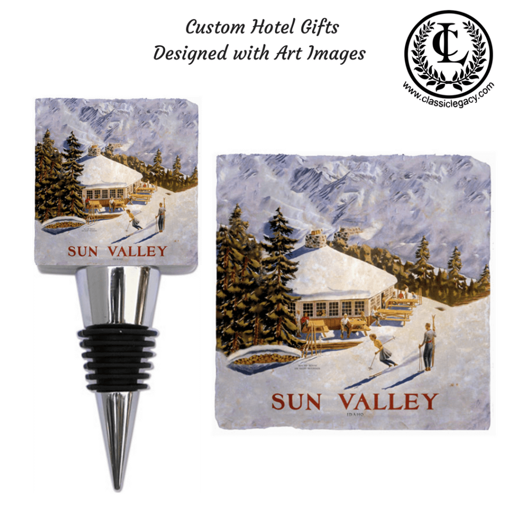 Custom Hotel Gifts with Art Images of Sun Valley Resort