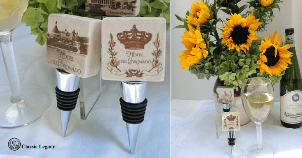 Custom Hotel Gifts Include Marble Wine Stoppers