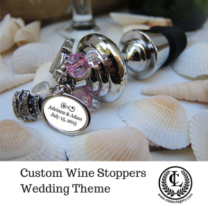 Catherine Tatum design of Custom Wine Stopper Wedding Theme