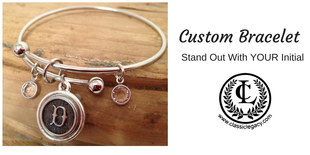 Custom Charm Bracelet Initial