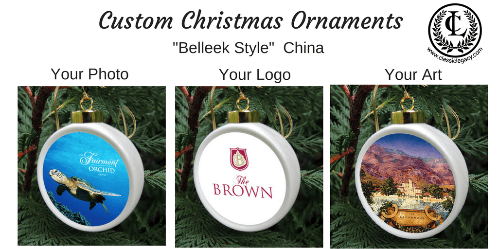 Classic Legacy Custom Christmas Ornaments China Belleek Style