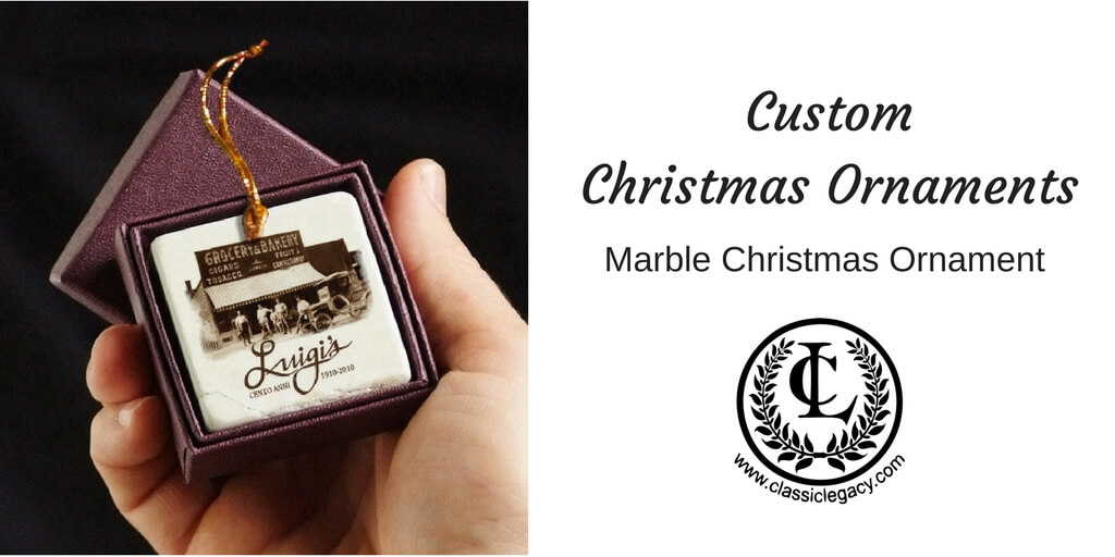 Classic Legacy Custom Christmas Ornaments Marble
