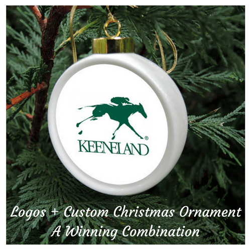 Keeneland Logo Custom Personalized Gift Christmas Ornament