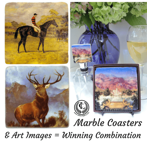 Marble Coasters & Art Images Personalized Custom Gift