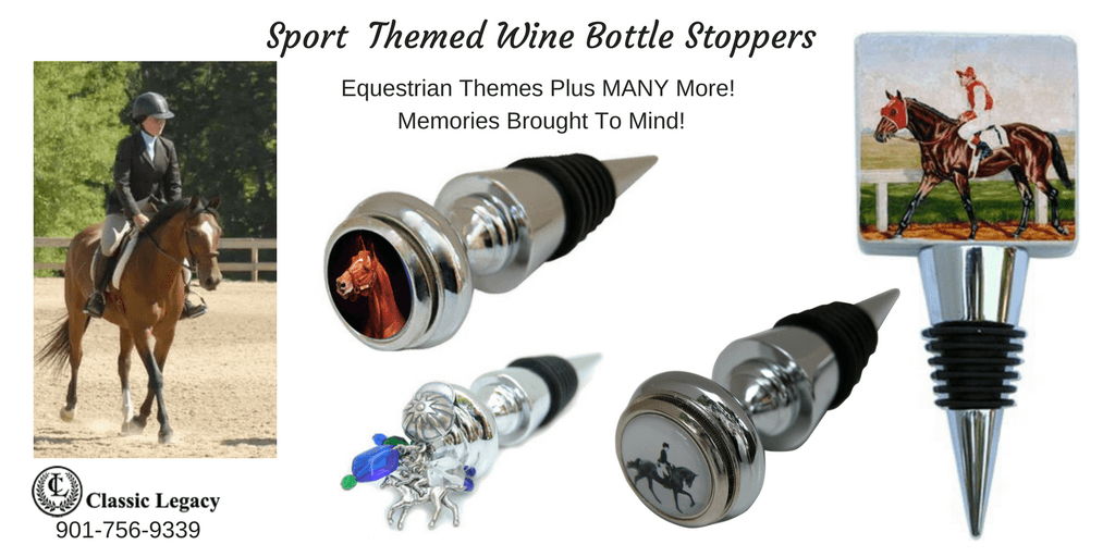 Sport theme wine bottle stoppers