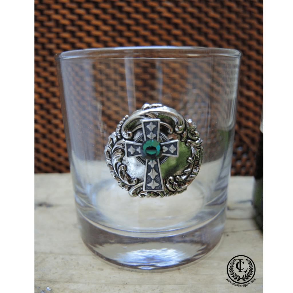Bourbon Glass Irish Cross