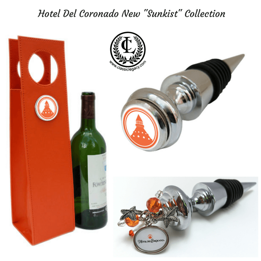 Custom Hotel Gifts Designed for The Hotel Del Coronado New Sunkist Collection Hotel Gifts by Classic Legacy