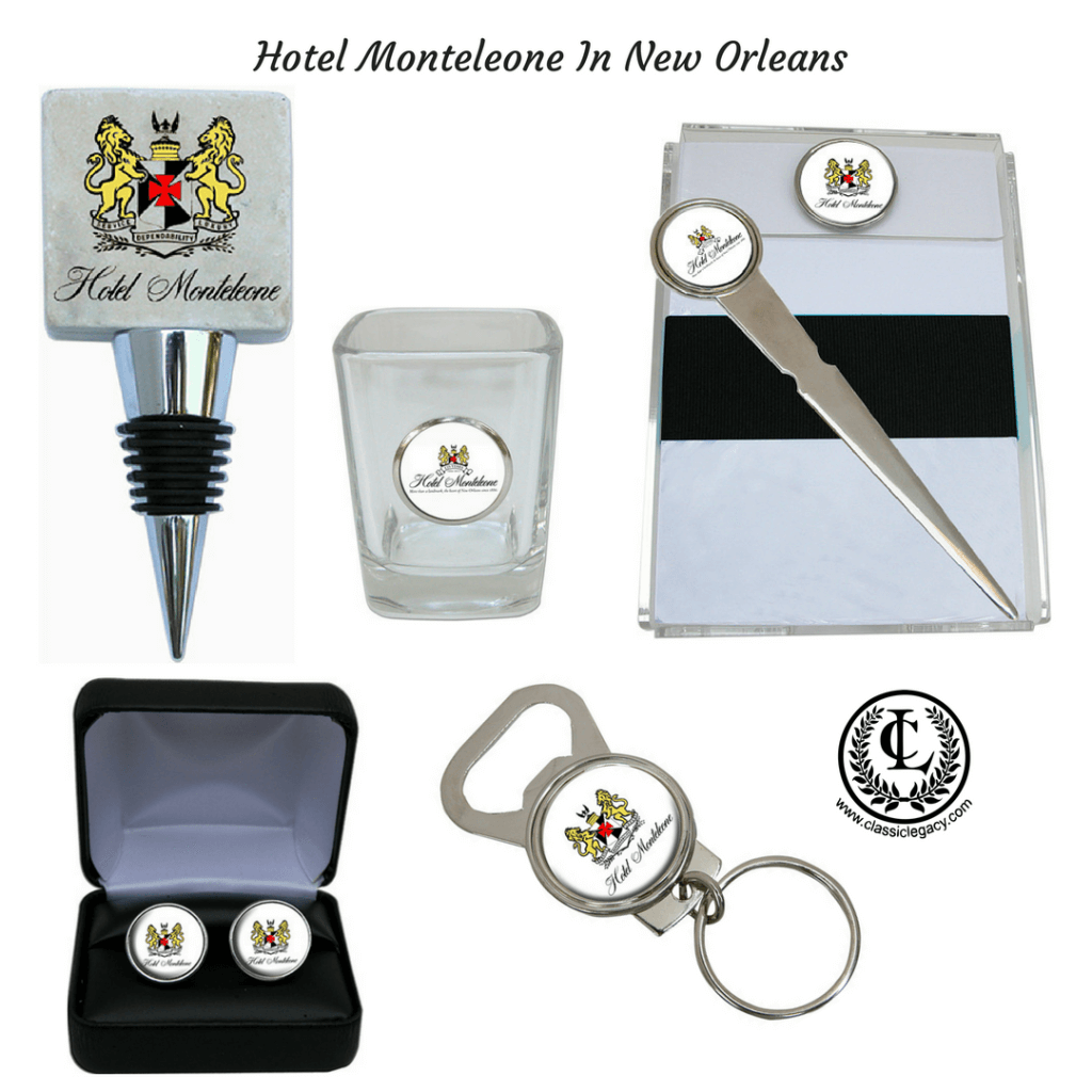 Custom Hotel Gifts Designed for Hotel Monteleone by Classic Legacy