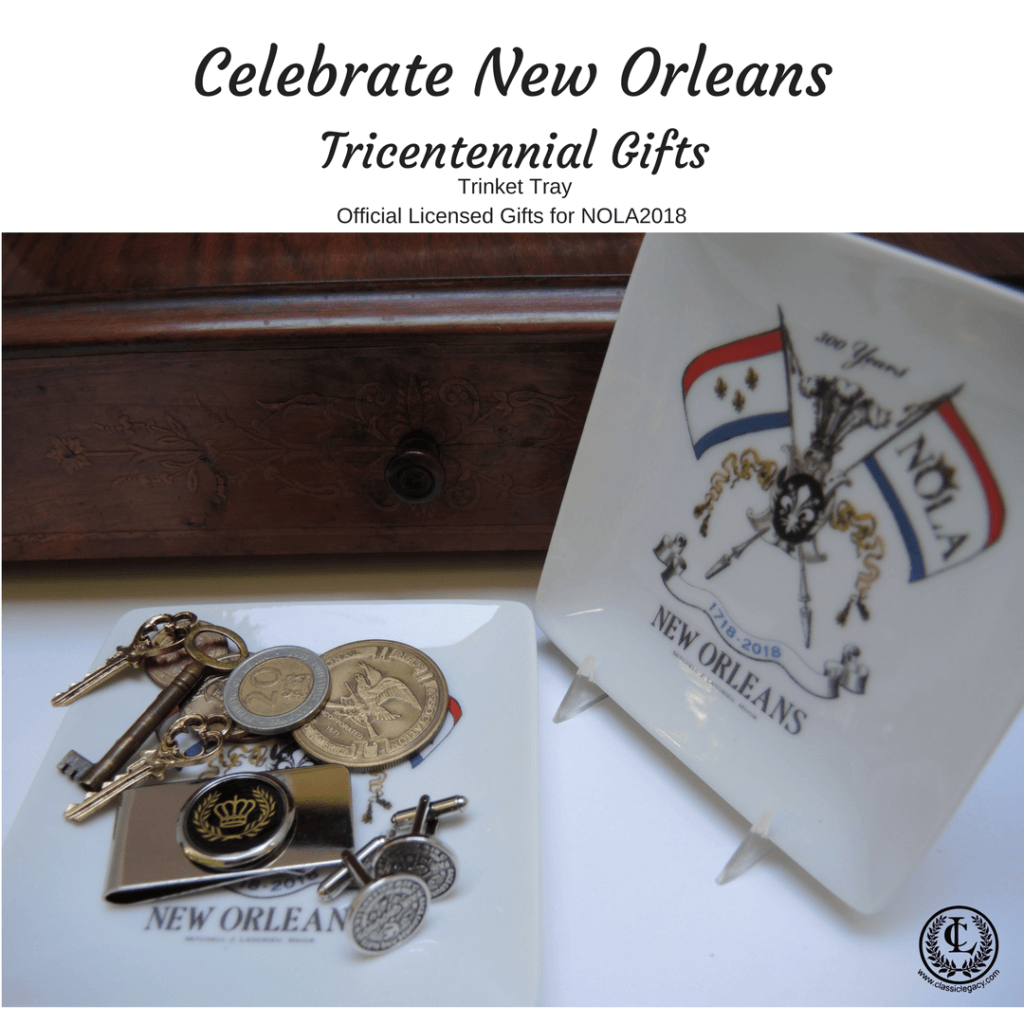 New Orleans Tricentennial Gifts include Trinket Tray for Men's Accessories