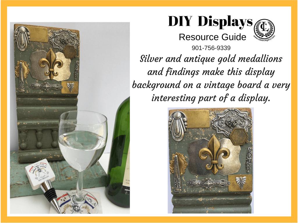 DIY Luxury Retail Display Vintage Medallions and Board