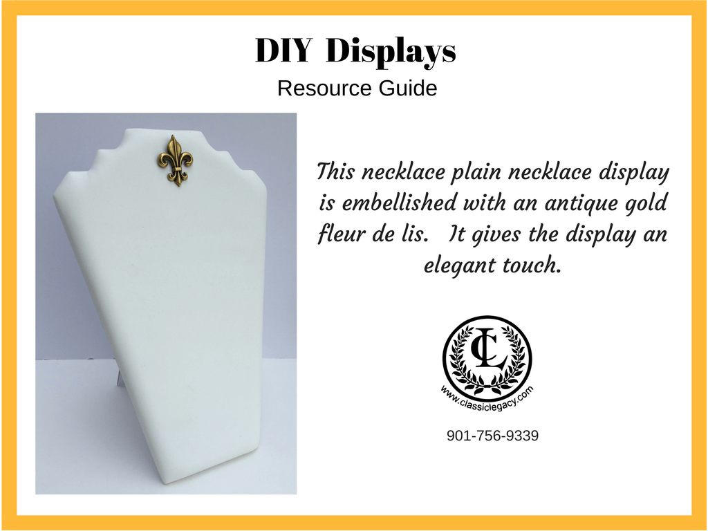 DIY Luxury Retail White Leather Necklace display