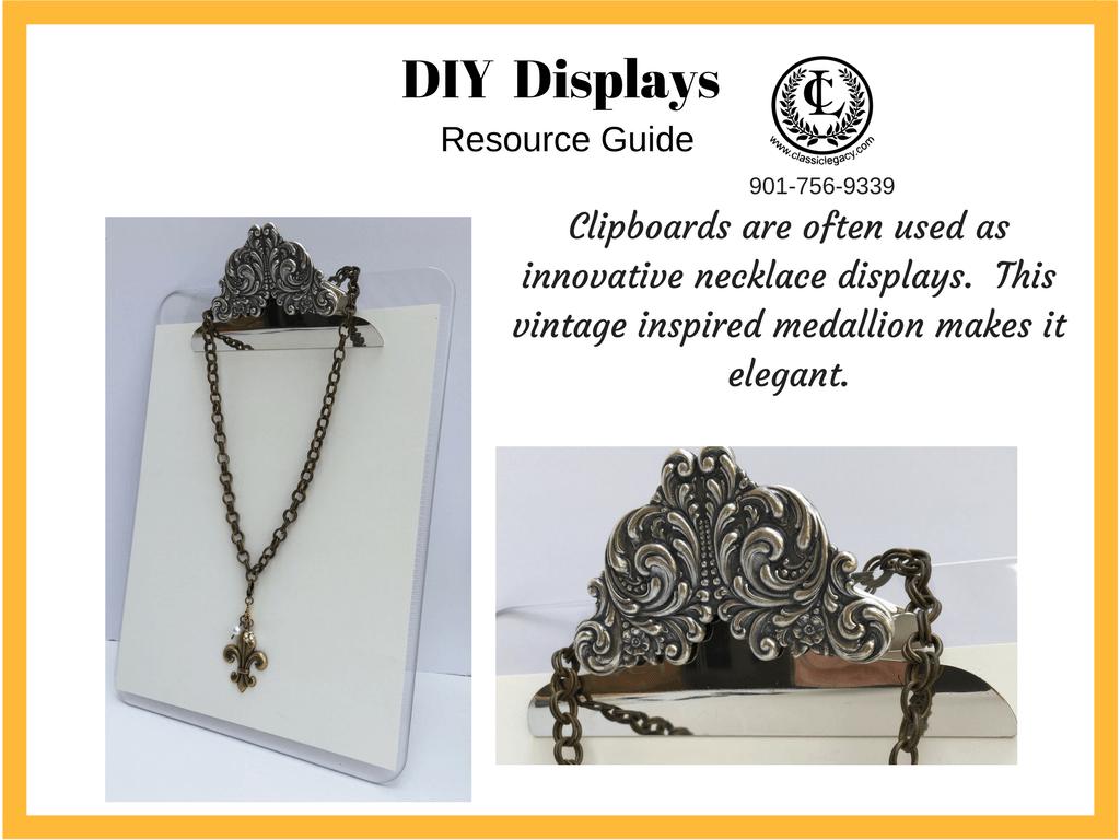 DIY Clipboard Necklace Display