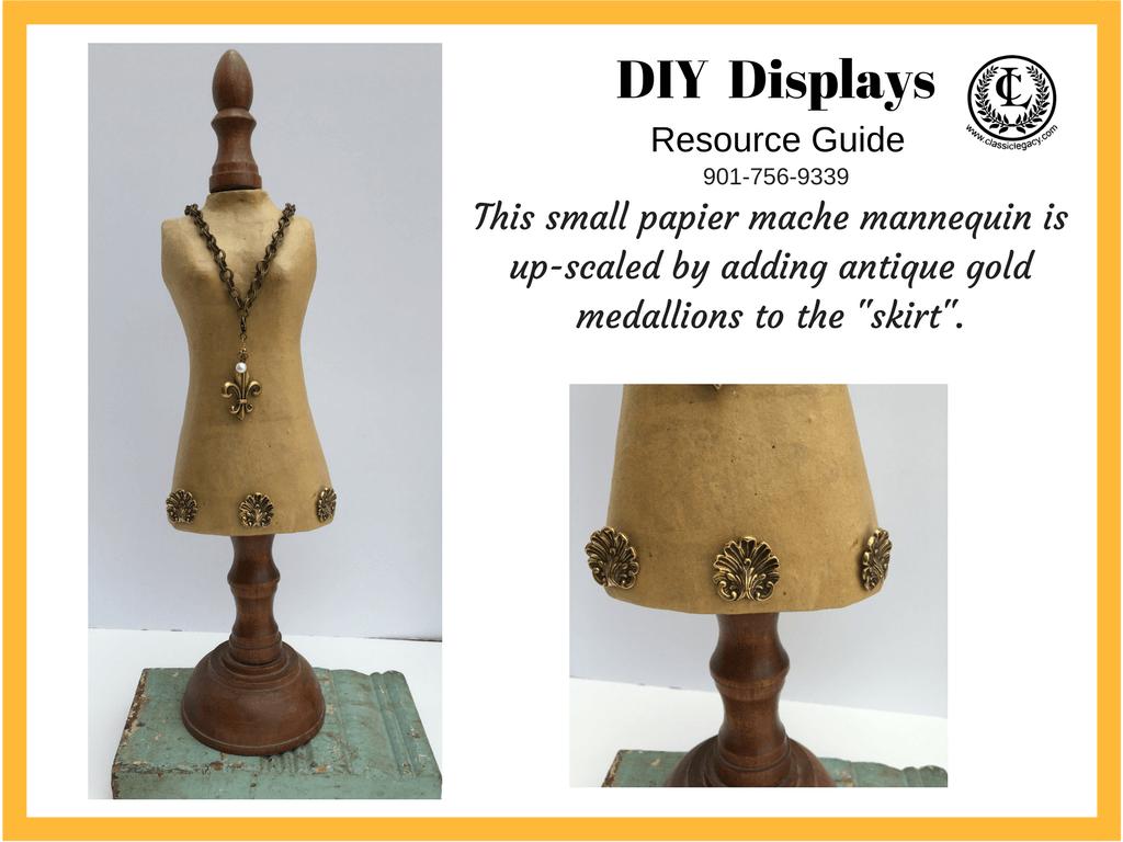 DIY Necklace Papier Mache Display